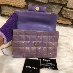 dbd1f6f7a93d CHANEL Bags | Patent Square Stitched Keyboard Flap Clutch | Poshmark